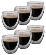 Produktfotografie - doppelwandiges Glas mit Kaffee 6er Set