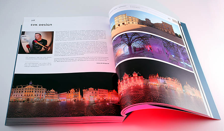 SVK Design ist als eine von 16 Firmen mit einer Doppelseite in der Rubrik Existenzgründer im Buch Erfolg durch Design vertreten