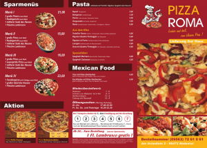 Folder für Pizza Roma in Rödental bei Coburg